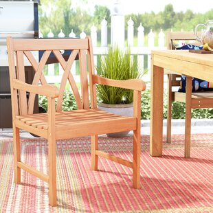 Monterry Teak Patio Dining Chair by Beachcrest Home