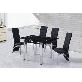 Doering Extendable Dining Set With 4 Chairs By Metro Lane