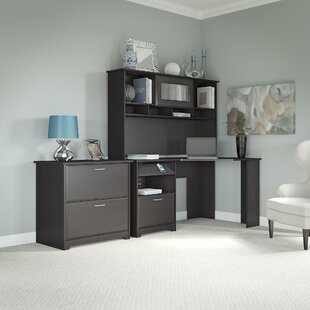 Hillsdale Corner Executive Desk with Hutch & Lateral File