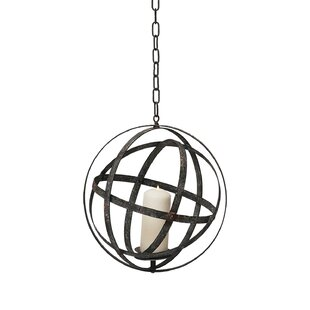 Gracie Oaks Hanging Orb Metal Lantern