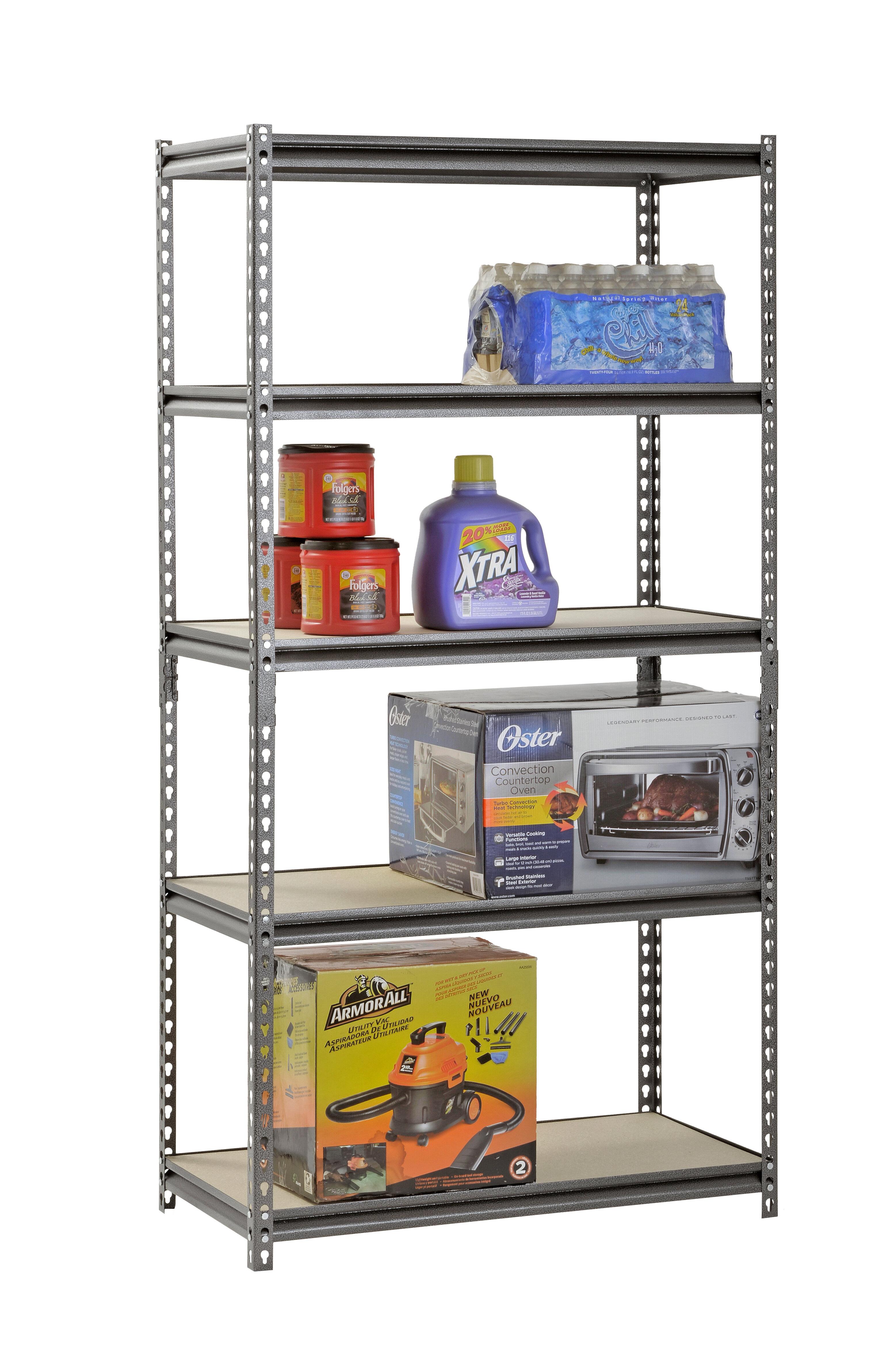 72 H X 36 W 5 Shelf Z Beam Boltless Steel Shelving Unit