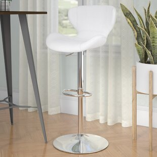 Compare prices Oakgrove Adjustable Height Swivel Bar Stool by Orren Ellis Reviews (2019) & Buyer's Guide