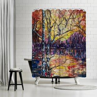East Urban Home OLena Art Beautiful Sunset Shower Curtain
