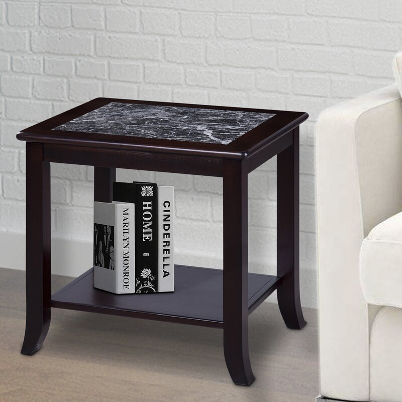Red Barrel Studio Sturgill Marble Top End Table