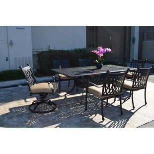 Baragrey 7 Piece Dining Set with Cushions