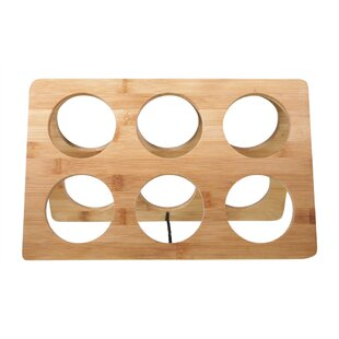 Bamboo 6 Bottle Tabletop Wine Bottle Rack..