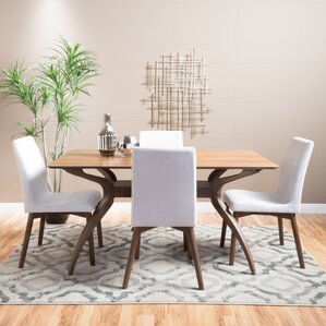 simple wood dining room chairs. Dougal 5 Piece Dining Set Modern  Contemporary Room Sets AllModern