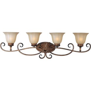 Read Reviews Windle 4-Light Vanity Light By Fleur De Lis Living
