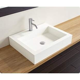 Inexpensive Polymarble Rectangular Vessel Bathroom Sink By Badeloft