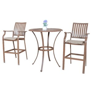 Island Breeze 3 Piece Bar Height Dining Set