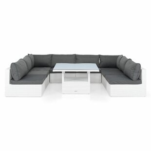 Review Wadkins 6 Seater Corner Sofa Set