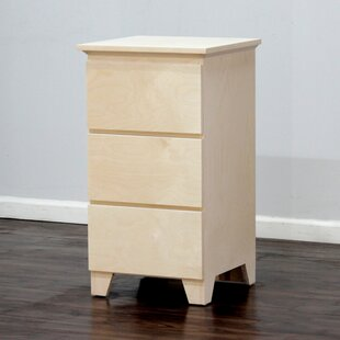 Flat Shaker 3 Drawer Nightstand by Gothic Furniture