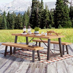 Benigna 3 Piece Wood Picnic Table by Trent Austin Design