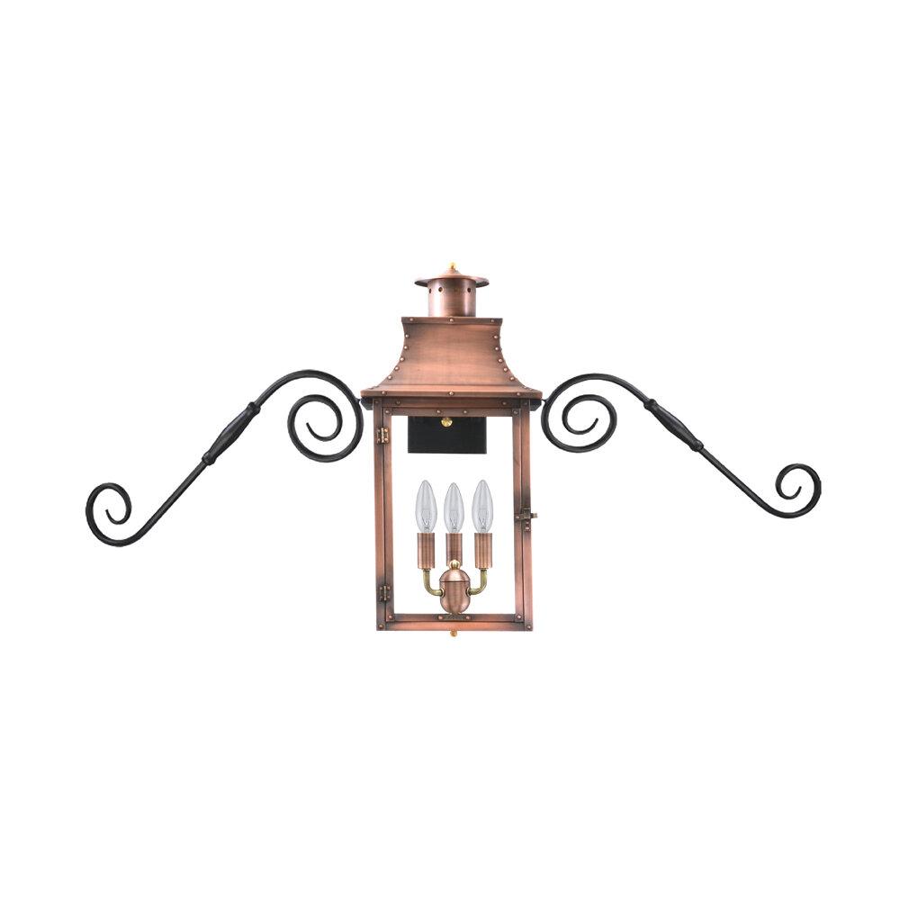 Longshore Tides Gravette Aged Copper 27 H Hardwired Lantern Head Wayfair