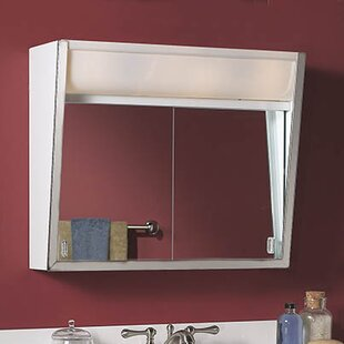 Affordable Price Specialty Flair 24 x 19.5 Surface Mount Medicine Cabinet with Lighting By Jensen