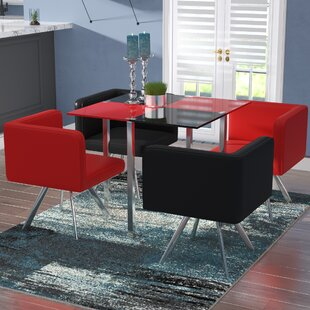 Wade Logan Longwell 5 Piece Dining Set