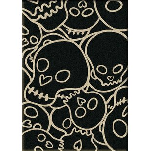 Best Review Motorhead Head Banger Black Area Rug By American Dakota