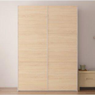 Brayden Studio Zastrow 6 Shelves Armoire with Sliding Doors