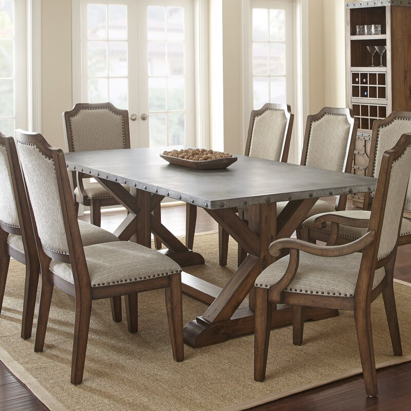 17 Stories Elzira Rectangular Dining Table & Reviews | Wayfair