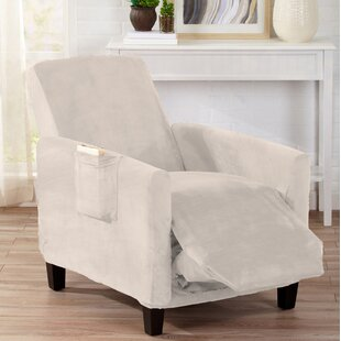 Velvet Plush Form Fit Stretch T-Cushion Recliner Slipcover by Symple Stuff