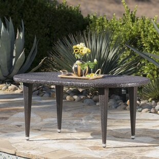 Gwendoline Outdoor Wicker Dining Table by Everly Quinn Today Only Sale