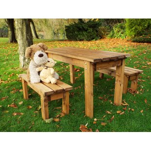 Flores Children's 3 Piece Play Table And Bench Set By Union Rustic