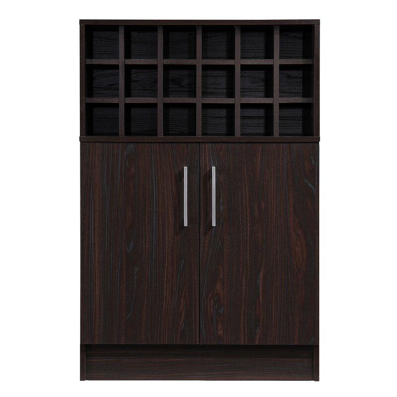 Zipcode Design  Buena Vista Mid Century Wine and Bar Cabinet Color: Wenge