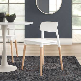 Mora Solid Wood Upholstered Dining Chair Reviews Allmodern