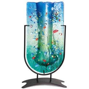 Fused Glass Tall U Vase