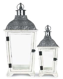 Decorative Metal/Wood Lantern By Bungalow Rose