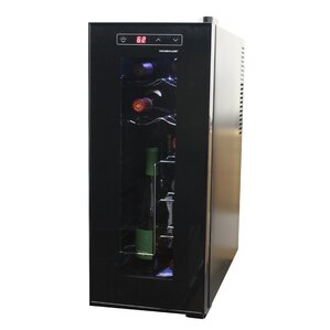 12 Bottle Single Zone Freestanding Wine Cooler by Homeimage