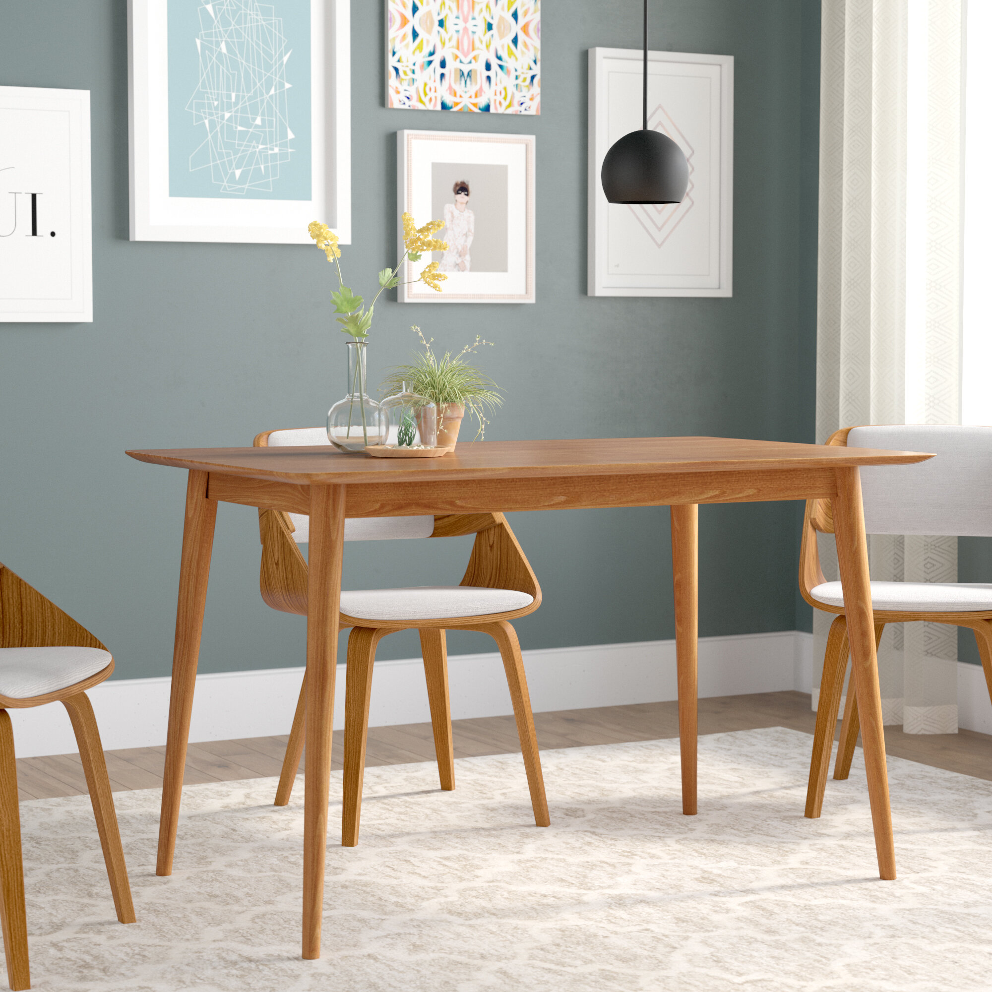 Astounding Kaylen Mid Century Modern Wood Dining Table Caraccident5 Cool Chair Designs And Ideas Caraccident5Info
