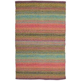 Saffron Handmade Kilim Cotton Pink Rug by Bakero