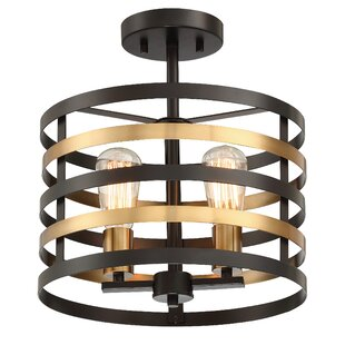 Zilla2-Light Semi Flush Mount by Wrought Studio