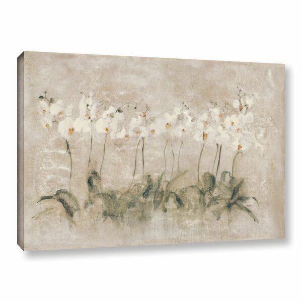 Lark Manor White Dancing Orchids Painting Print On Wrapped Canvas & Reviews by Lark Manor