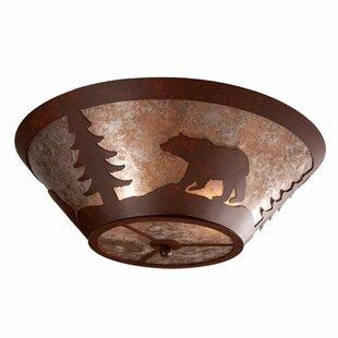 Steel Partners Bear 2-Light Flush Mount