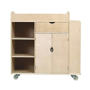 Art Equipment Activity 10 Compartment Teaching Cart with Casters by Guidecraft
