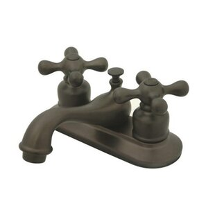 Price comparison Elizabeth Centerset Faucet with Double Metal Cross Handles By Elements of Design