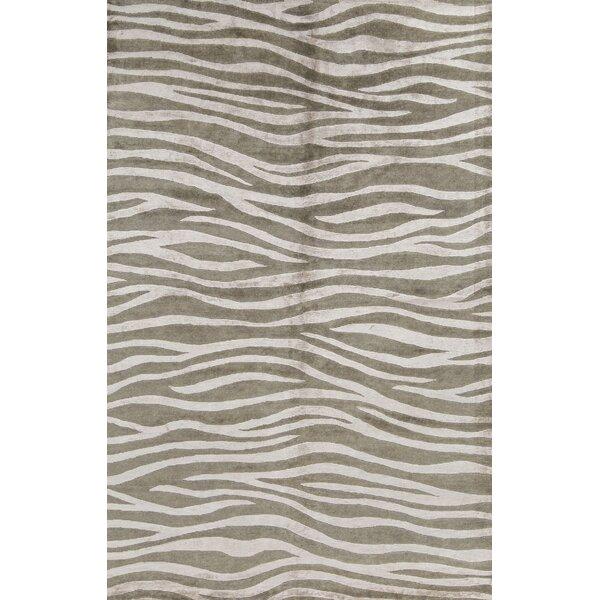 Bokara Rug Co Inc Himalayan Animal Print Hand Knotted Gray Area Rug Wayfair