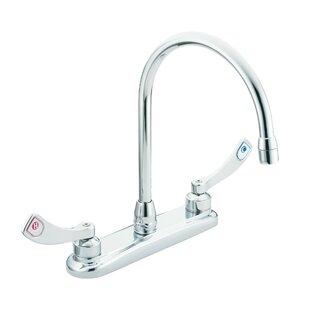 Moen M-Dura Double Handle Kitchen Faucet