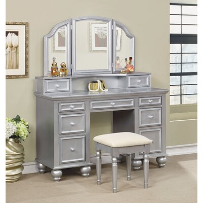 Anthonyson Transitional Vanity Set with Mirror Color: Silver by Darby Home Co