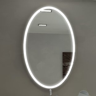 Vanity mirrors with lights youll love galaxy illuminated bathroom vanity wall mirror aloadofball Choice Image