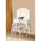 Malden Solid Wood Vanity Set with Stool and Mirror by One Allium Way®