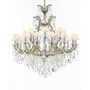 Astoria Grand Maclachlan 25-Light Shaded Chandelier