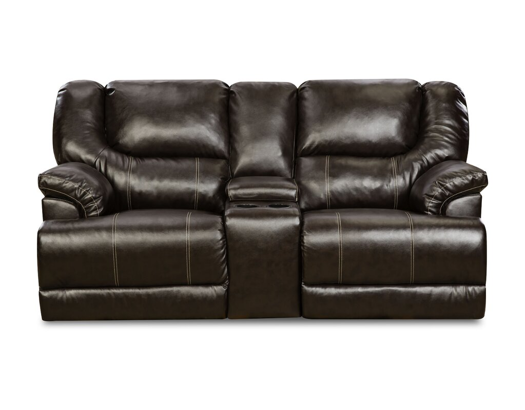 Darby Home Co Simmons Upholstery Starr Motion Reclining Sofa  ~ Simmons Leather Sofa Review