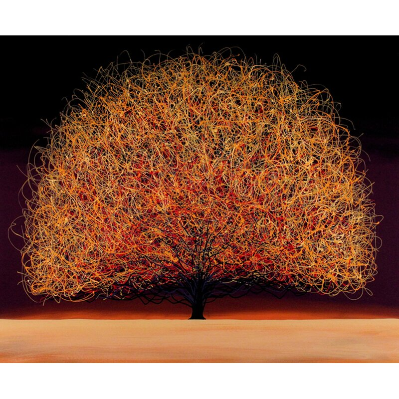 Hadleyhouseco Tree Of Peace Contemporary Landscape By Daniel Lager Painting Print On Canvas Wayfair