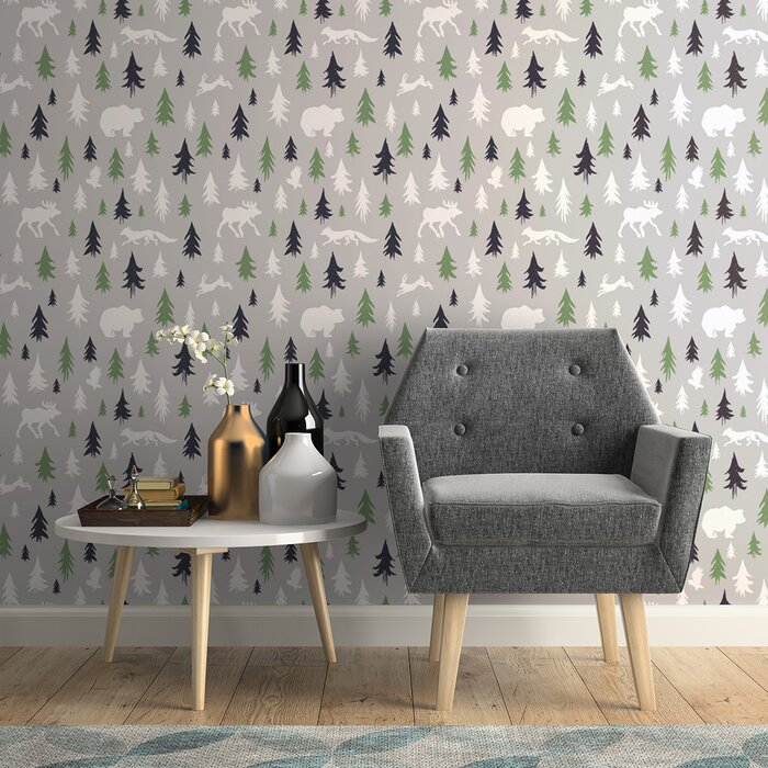 Awe Inspiring Warrior Forest Baby Removable Peel And Stick Wallpaper Panel Ocoug Best Dining Table And Chair Ideas Images Ocougorg