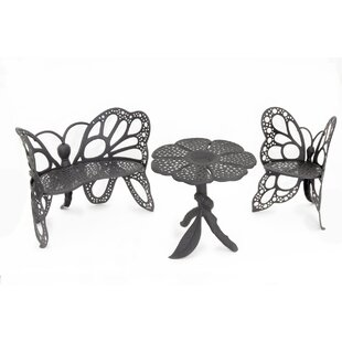 Butterfly 3 Piece Sunbrella Seating Group with Cushions
