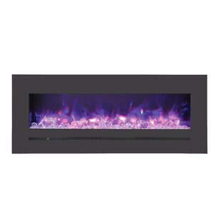 Spiegel Recessed Wall Mounted Electric Fireplace by Orren Ellis