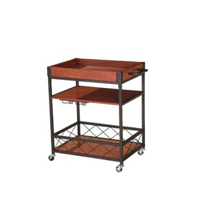 Williston Forge Booth Kitchen Mobile Serving Bar Cart